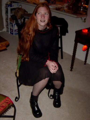 Abby, Goth-style for Halloween 2003