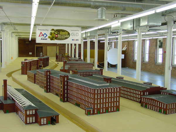 a Lego reproduction of the millyard in Manchester, New Hampshire - SEE Museum