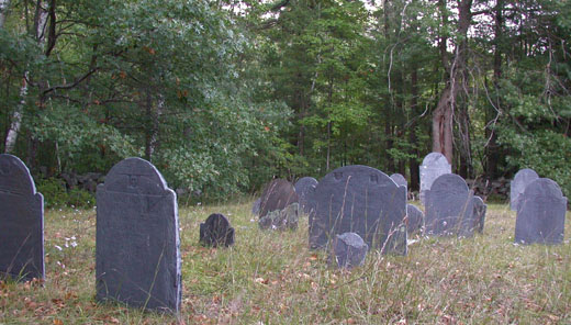 a cemetery in Bedford, New Hampshire